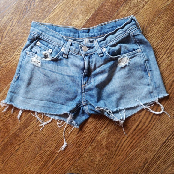 rag & bone Pants - Rag & bone Frayed Jean Shorts